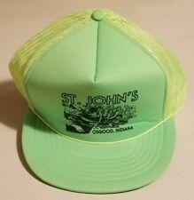 Vtg The Madhatter St John's Adjustable Snapback Truckers Rope Mesh Hat Cap