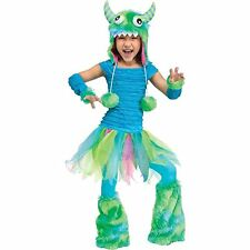 "CUTE ""BLUE BEASTIE"" MONSTER CHILD HALLOWEEN COSTUME GIRL'S TODDLER SIZE LG 3T-4T"