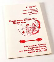 Vintage 1983 NOAC Order of the Arrow Conference Boy Scouts Pamphlet Brochure