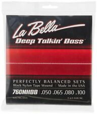 La Bella 760NHBB Noir Nylon Adhésif Blessure Deep Talkin Basse 050-100 Japon