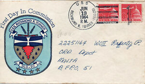 USS RICHMOND K TURNER - First Day Cover June 1964 - First Day in Commission - US