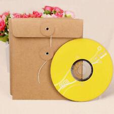 100 bustine custodia archivio per CD/DVD/BLU RAY carta Kraft modello chiusura