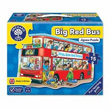 Big Red Bus Jigsaw Puzzle - Orchard Toys