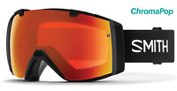 NEW Smith I/O Goggles-Black-Everyday Red Chromapop-Asian Fit-SAME DAY SHIPPING!