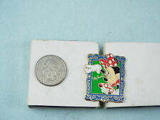 DISNEY PIN MINNIE MOUSE RED POLKA DOT DRESS & BOW IN BLUE PICTURE FRAME WAVING