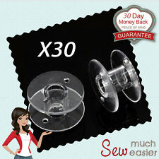 30x Empty Plastic Bobbins for Sewing Machines Janome Brother Elna Singer bobbin