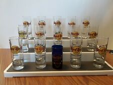 """Set of 19 Hard Rock Cafe & Hotel SHOT GLASS most 4"""" tall NEW"""