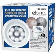 8 LED Luz de sensores inalámbrica de rotación de 360 Auto Detección de Movimiento Infrarrojo IR
