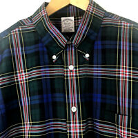 Brooks Brothers Regent Long Sleeve Button Down Woven Plaid Supima Shirt Holiday