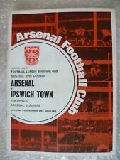 1969-70 Arsenal v Ipswich Town, 25th Oct with Voucher