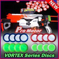100PCS Refill Nerf Vortex Blaster Discs Bullet for Praxis Nitron Vigilon Proton