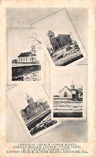 Edinburg Illinois~Christian~German Reform~Methodist~Baptist Church~1911 B&W PC