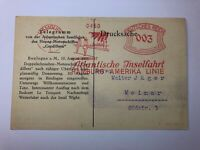 AK Boulogne sur Mer - Karte der Hamburg-Amerika Linie - 1933 Stempel Hamburg