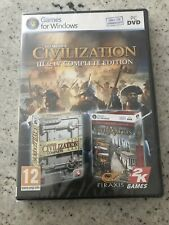 Sid Meier's Civilisation III And IV Complete Edition  PC DVD