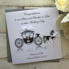Handmade Personalised Wedding Card, Uncle, Auntie, Nephew, Niece, Godson, Friend