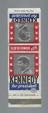1960 JFK KENNEDY FOR PRESIDENT PICTURE CAMPAIGN MATCHCOVER