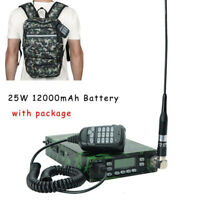 ABBREE 25W Backpack Packable VHF/UHF ham Car Mobile Radio Transceivers 12000mAh