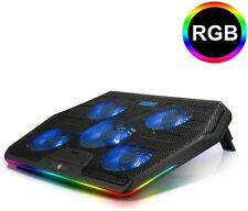 TECKNET RGB Laptop Cooling Pad Cooler for 15.6-17 Inch Laptop with 5 Quiet Fans
