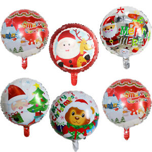 18'' Round Balloon Christmas Theme Aluminum Foil Color Holiday Party Supplies T