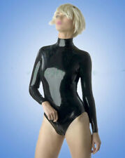 Latex Catsuit Women Sexy Summer Swimsuit Kig Rubber Unitard Back Zip