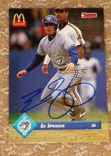 Ed Sprague Toronto Blue Jays World Series Hero autographed card