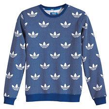 adidas Originals AOP Trefoil Beckenbauer BB Crew Herren Sweatshirt Royal Blau Ra