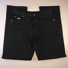 Hugo Boss Alabama Regular Straight Black Gray Stretch Denim Jeans Mens 34x32