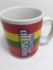 Life Savers Five Flavor Roll Teleflora Gift Colorful Ceramic Coffee Cup Mug