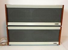 Pair of GRUNDIG Mid-Century RAUMKLANG BOX 10 SPEAKERS, Vintage Clean Tested WORK
