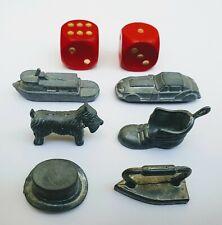MONOPOLI pezzi di ricambio da gioco ~ BARCA ~ Cane Cappello ~ ~ Boot ~ AUTO ~ FERRO ~ Dadi
