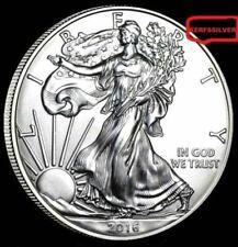 2016  SILVER AMERICAN EAGLE 1 OZ. 999  PURE FINE SILVER BULLION COIN  [BU - UNC]