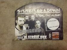Rare! Promo 18x14apxx album Cd lp Poster cardboard. System Of A Down vintage