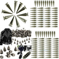 500Pcs Trendy 10MM Silver Spots Cone Screw Metal Studs Rivet Bullet Spikes Tacks