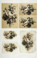 Rice Paper for Decoupage Decopatch Scrapbook Craft Flowers old cards
