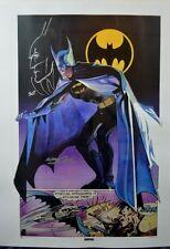 BATMAN Ltd Ed PRINT HAND SIGNED Neal Adams w HEAD SKETCH Thought Factory w COA