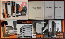 Konvolut 6 Bde Architekturgeschichte 1977/87 Le Corbusier Gropius Wright Aalto