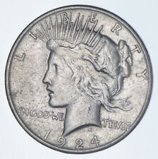 Early - 1924-S - Peace Silver Dollar - 90% US Coin *655