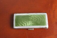 German Silver tabatiere with guilloche enamel, Russian import mark. Snuff box