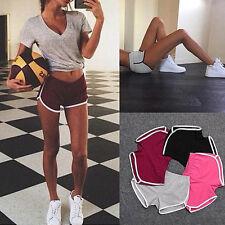 Damen Sommer Sport Shorts Gym Training Bund Fitness Yoga Kurze Hosen Hot Pants