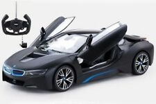 RASTAR OFFICIAL LICENSED Matt Black BMW i8 R/C RADIO Remote Control CAR 1:14 NEW