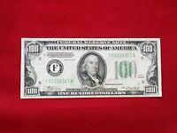 FR-2152F  1934 Series $100 Atlanta Federal Reserve Note *Light Green Seal* *VF*