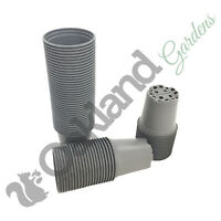 9cm Plant Pots Grey 100% Recycled +  Recyclable Tall Deep Full Size Pot Seed