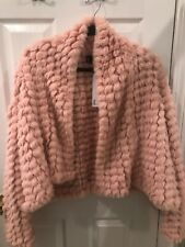 Love Token Pink Fuzzy Sweater Size Small