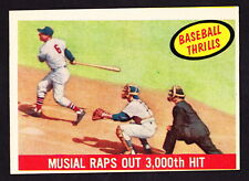 1959 TOPPS #470 STAN MUSIAL RAPS OUT 3,000th HIT