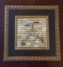 Handmade Corkscrew Cork Wall Picture Art