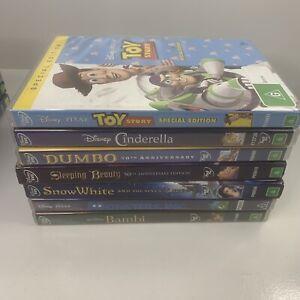 DVD Bundle Bulk Lot Of 7 Various Kids Disney Movies Dumbo, Toy Story, Cinderella