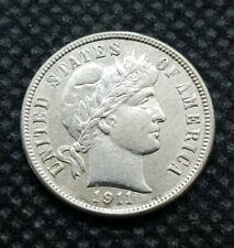 1911-S Barber Dime   ALMOST UNCIRCULATED   Strong Detail