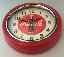 Vintage Red Metal Round Coca Cola Wall Clock     BN426 - X80720