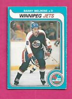 1979-80 OPC  # 386 JETS BARRY MELROSE  ROOKIE VG+ CARD (INV# C4350)