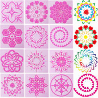Embossing Painting template Layering Stencils Mandala Auxiliary Scrapbooking